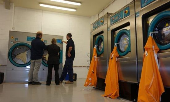 Full training on all our commercial washing machines and dryers