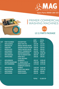 primer laundry equipment spare parts packs for trade accounts