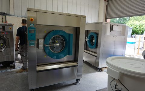 Industrial Washing Machine Installation