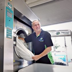 Demonstration of MAG's Commercial Washing Machines. MAG are leading suppliers for Commercial Laundry Equipment.