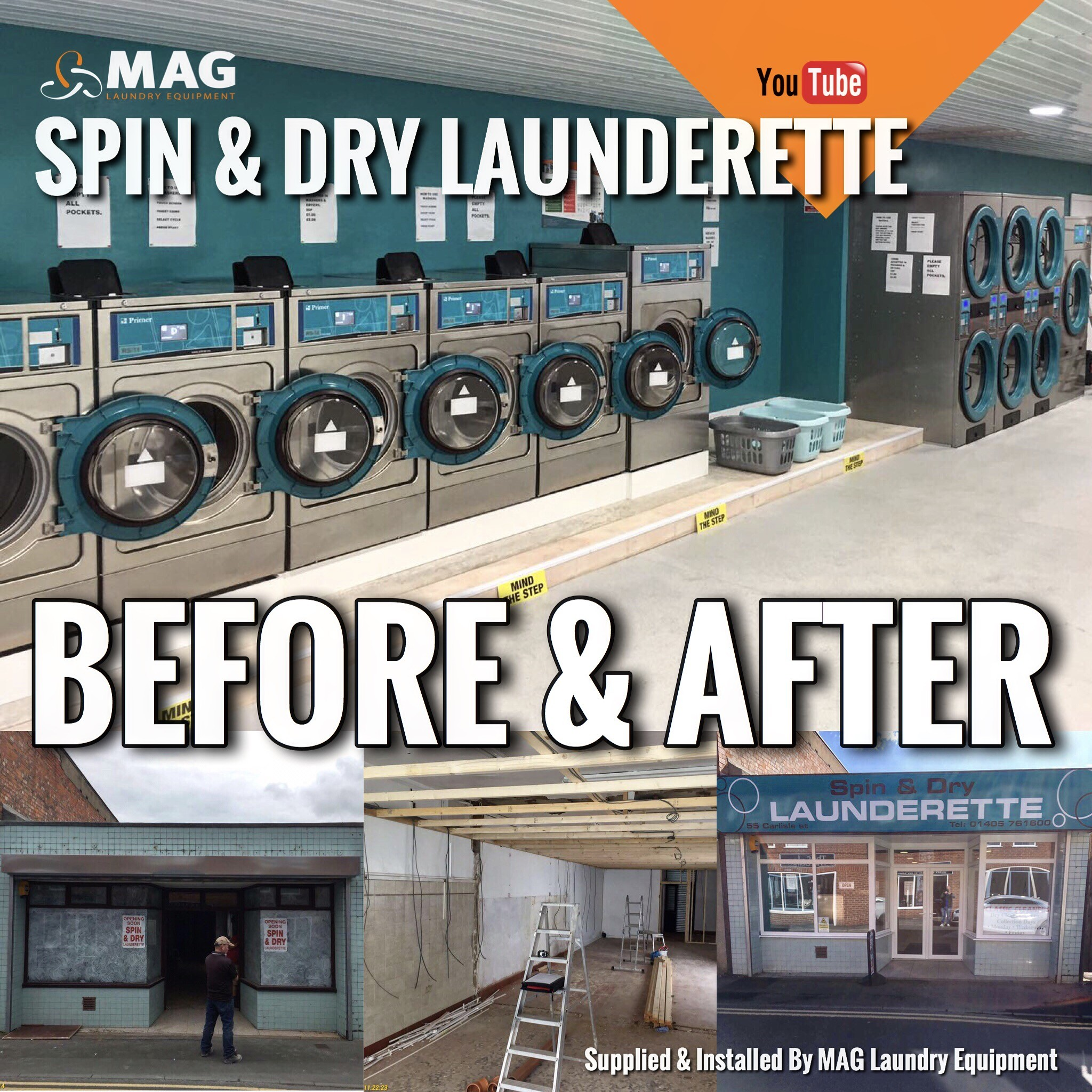 Set up your own laundrette with MAGs design & planning services. Industrial Washing Machine.