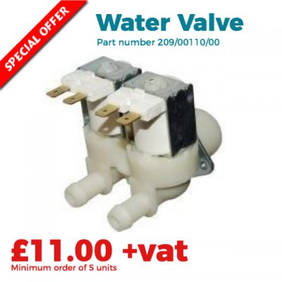 commercial washing machine water valve special offer price £11.00 only