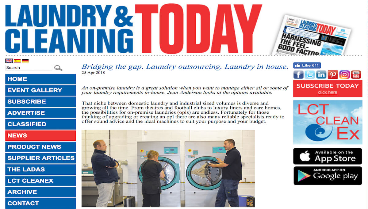 "inhouse laundry versus outsourced laundry Managing the costs of laundry ""laundry service is probably the fastest growing outsourced service in healthcare facilities"" show all comments."